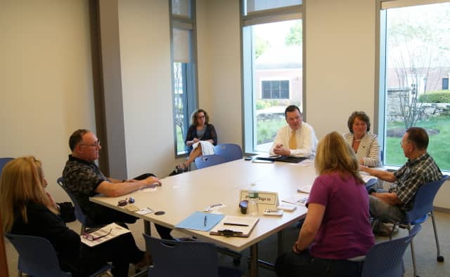 State Reps. John Frey and Jan Giegler recently had office hours at the Ridgefield Library.