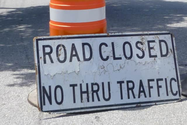Construction will force the closure of Warburton Avenue over Cropsey Lane from Washington Avenue to Main Street from May 18-21.