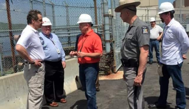 Gov. Andrew Cuomo received a briefing at Indian Point shortly after Unit 3 failed and caught fire.