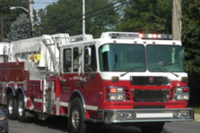 A bolt of lightning struck a Larchmont home Saturday, sparking a fire, according to News Westchester 12.