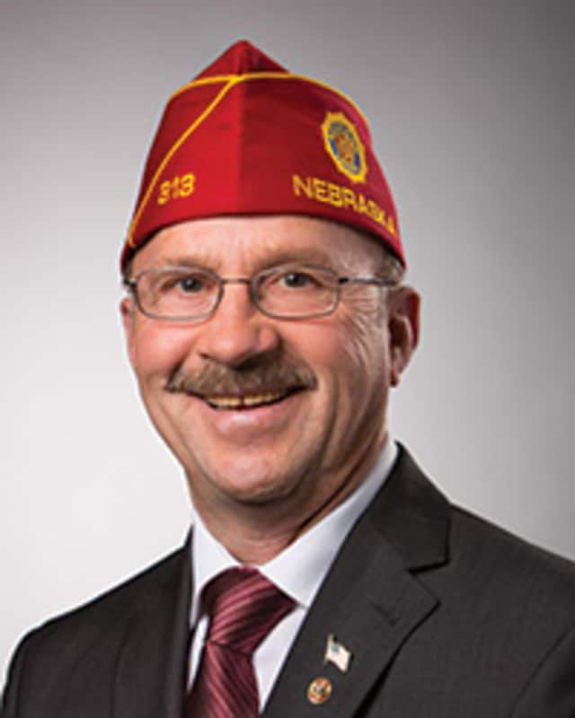 Michael D. Helm of Norcatur, Kan., national commander of the American Legion, will visit Norwalk's Frank C. Godfrey Post 12 on Tuesday.