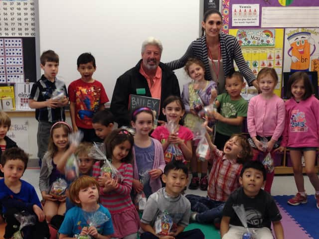 Community members met with Pound Ridge Elementary School students.