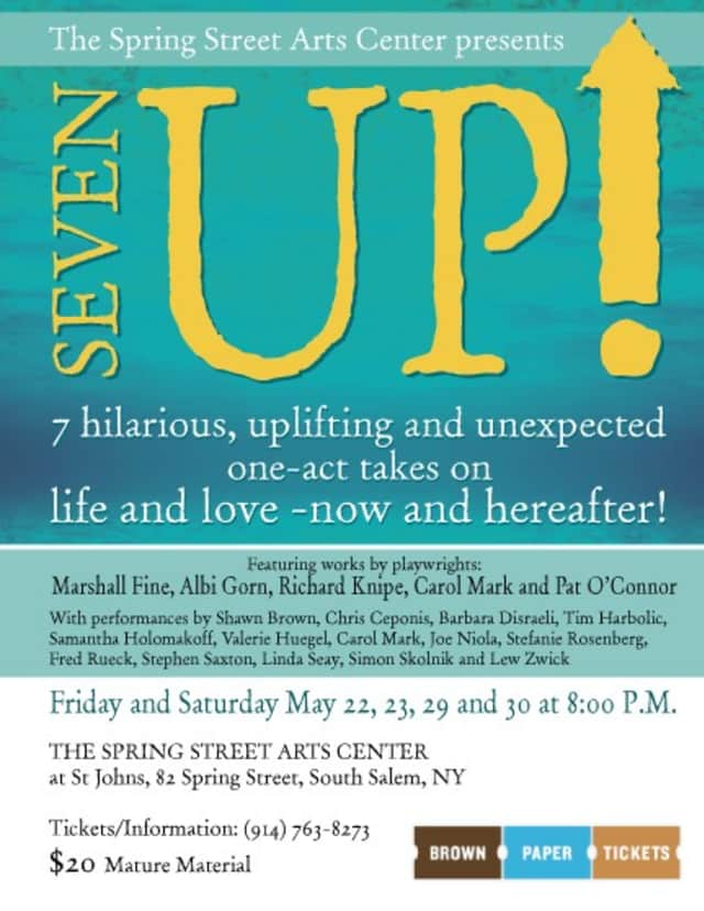 """The Spring Streets Art Center is presenting """"Seven Up!"""" at St. John's Parish May 22, 23, 29 and 30."""
