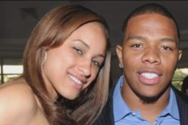 New Rochelle's Ray Rice and his wife, Janay.