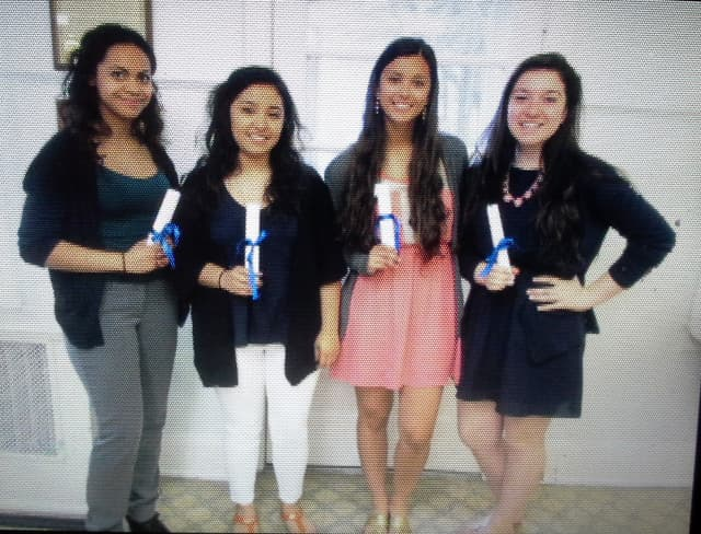 From left, Maria Carrasco, Martiza Angeles Gonzalez, Brianna Cefaloni, and Samantha Yellen.