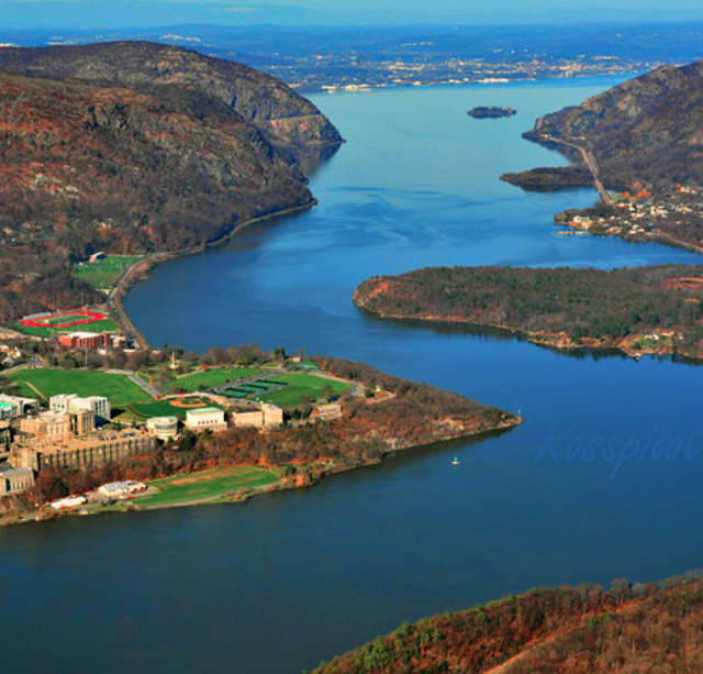 The Hudson River in the area of West Point.
