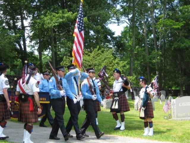 A Memorial Day parade in Pound Ridge.