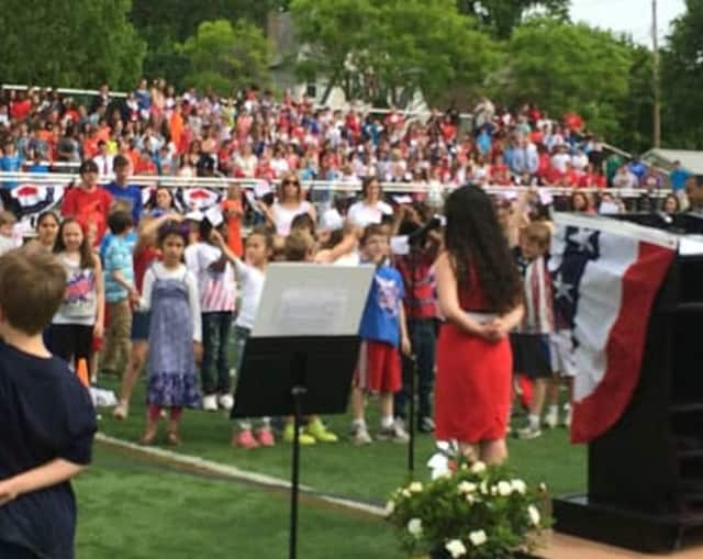 A scene from a previous year's Tuckahoe High School Memorial Day ceremony.