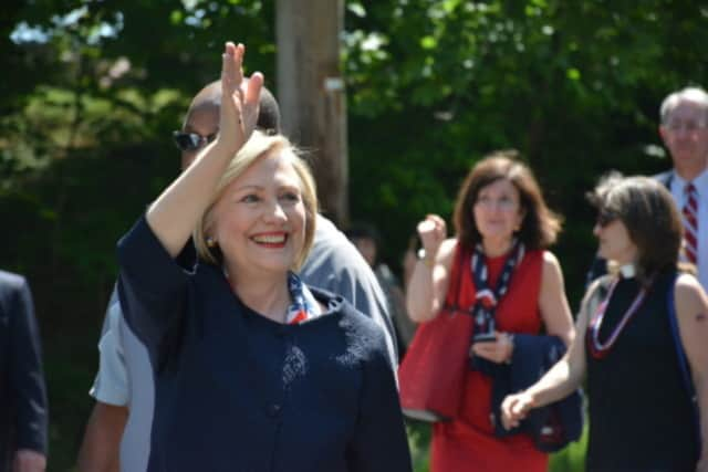 Chappaqua's Hillary Clinton is participating in the Democratic presidential debate on Tuesday.
