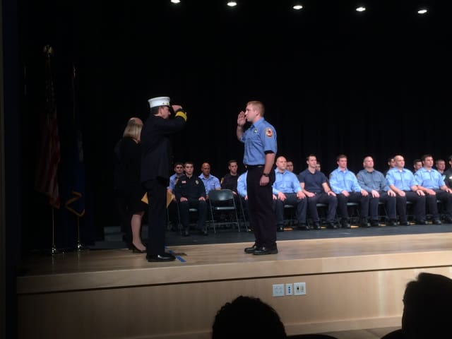 Westport Recruit Firefighter Michael Peck recently graduated from the Connecticut Fire Academy's Recruit Class 55.