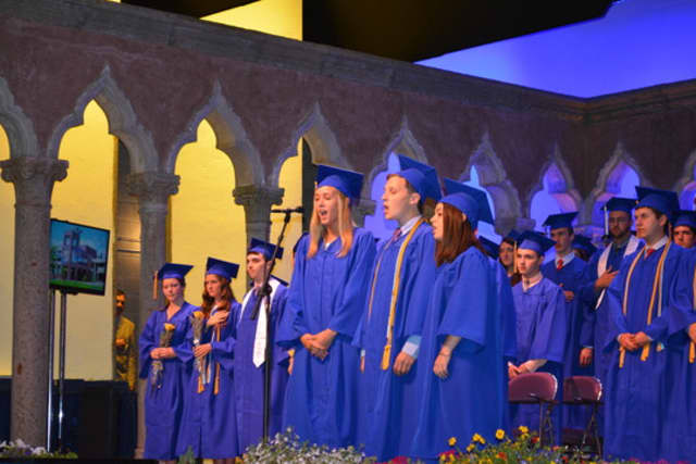 High schools across Westchester have graduations planned. Pictured is one from last year.
