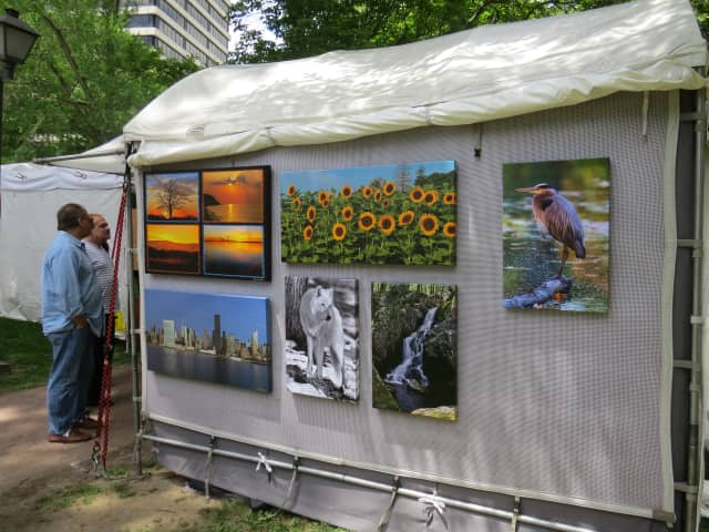 Artwork from an earlier White Plains Outdoor Arts Festival.
