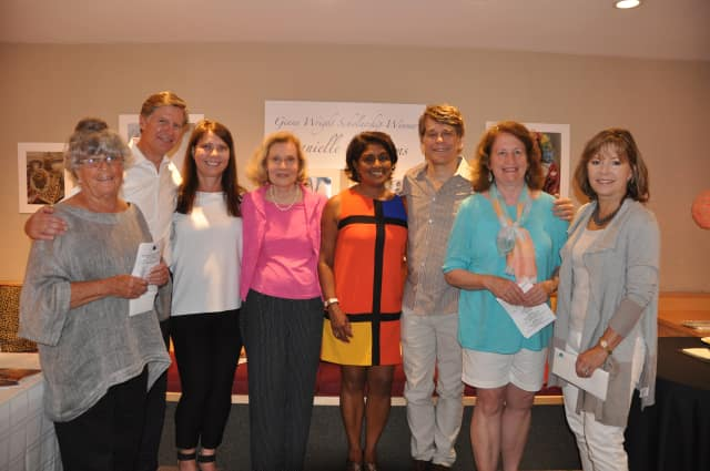 Winners from the 57th Annual Darien Art Show and Sale at the Darien Arts Center; Pat Atkins, Peter Thoren, Juliette Jansen, winner of Best in Show, Suzanne Wilsey, Nandini Hawley, Thomas Ernst, Pam Lindberg and Lisa Morrill Webb.