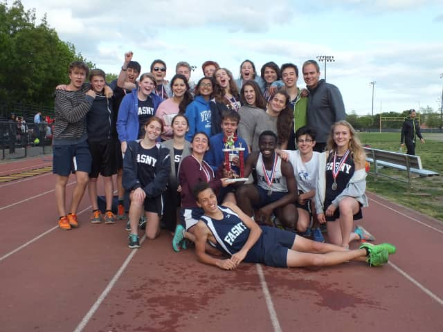 The French-American School of New York's spring track and field team.