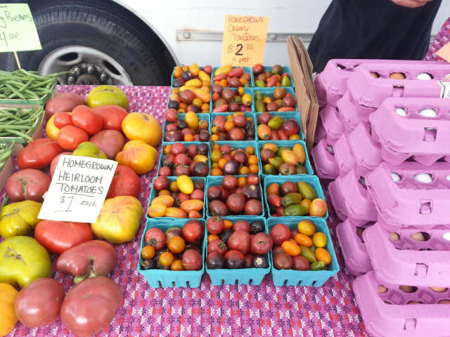 Fresh fruits, vegetables and eggs are among the items available at the Peekskill Farmers Market.