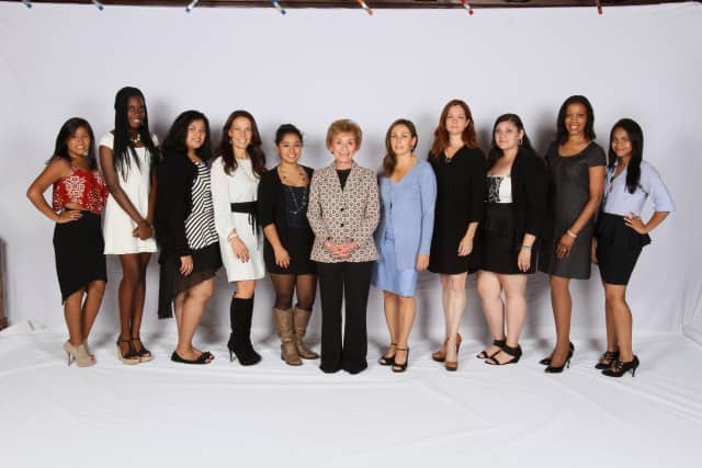 Judge Judy and a group of women from the Her Honor Mentoring Graduation on June 3.