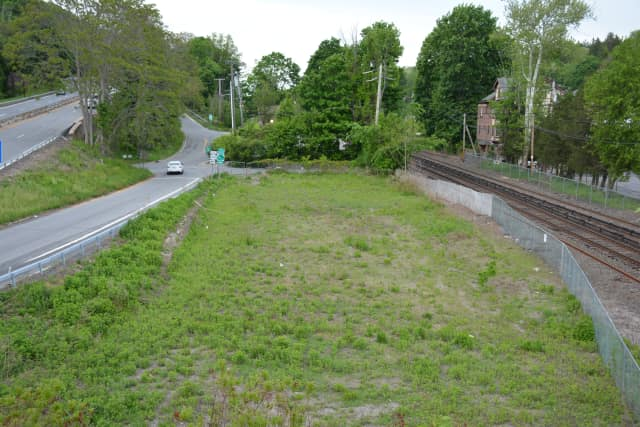 The site for Conifer Realty's Chappaqua Station affordable housing proposal.