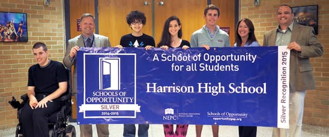 """Harrison High School recently was named a """"School of Opportunity."""""""