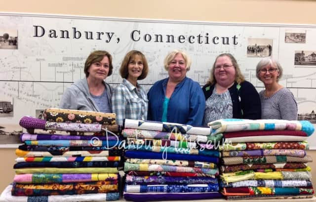 Members of the Fabric Friends of the Danbury Museum and Historical Society recently made and donated 37 quilts for Danbury Hospital patients.