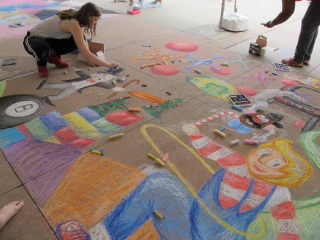 Chalk artists will compete on June 27 at Cross County Shopping Center.