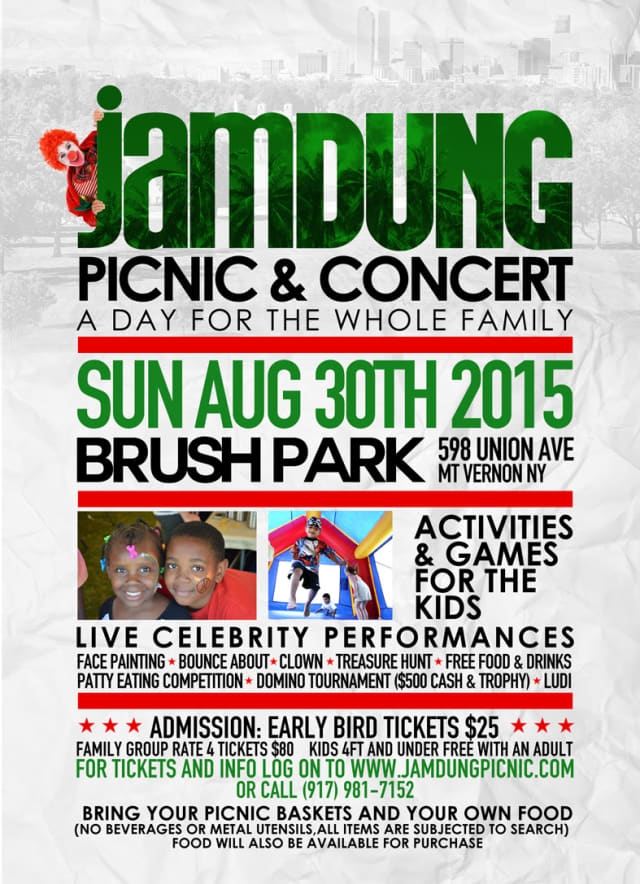 The inaugural Jamdung Picnic and Concert comes to Brush Park in Mount Vernon on Aug. 30.