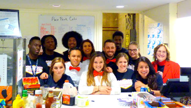 Dr. Kathy Winsted and members of the Pace Center for Student Enterprise celebrate another successful year