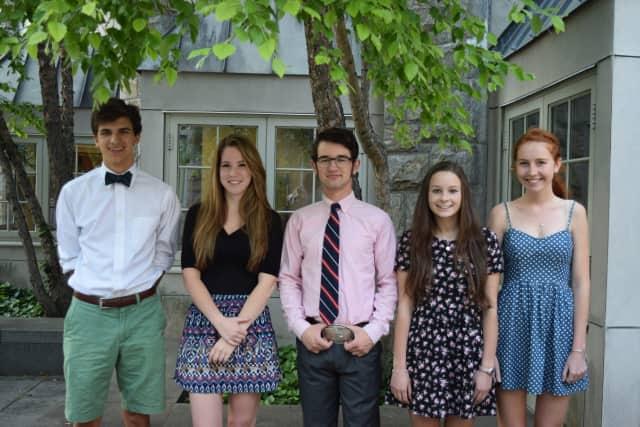 From left, Judson Ellis, Morgan Cobban, Caleb Glassberg, Bonnie Gould, and Chloe Jennings.