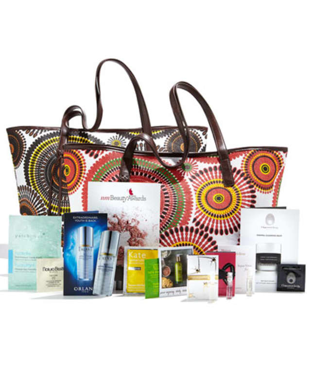 Neiman Marcus customers will receive a tote with summer beauty samples with a fragrance or cosmetics purchase of $100 or more until Sunday.