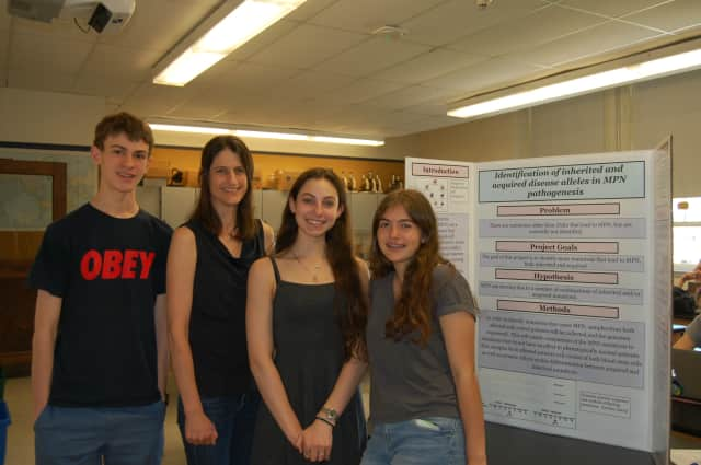 Students showed off the efforts of their research at the Hastings High School Science Symposium.