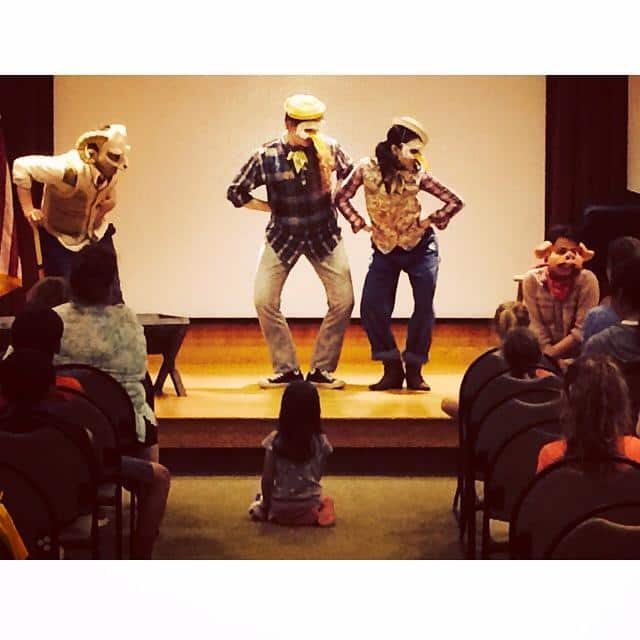 Summer Theatre of New Canaan actors put on a sneak preview of Charlotte's Web at New Canaan Library this week.