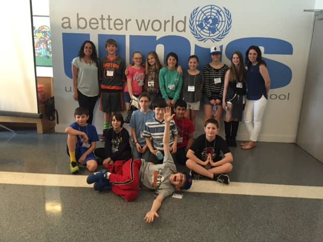 Students from the Pierre Van Cortlandt Middle School students in Croton-on-Hudson shared their passion for robotics at the United Nations International School Robotics Expo on May 2.