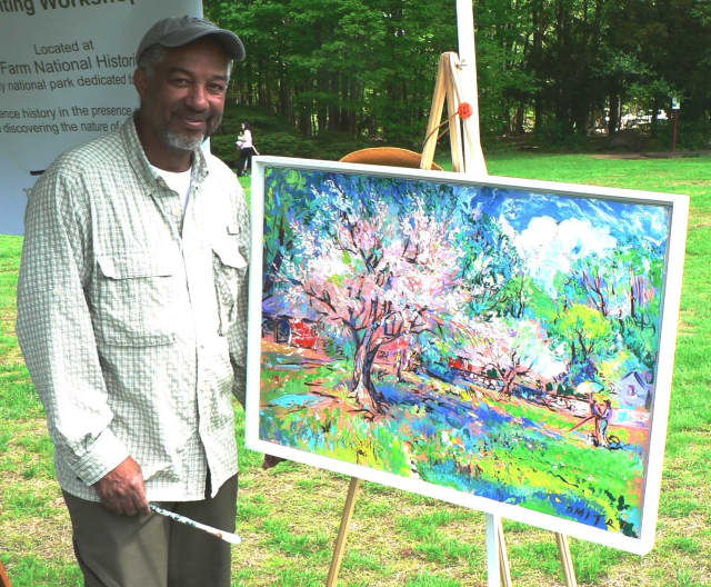 "Artist and author Dmitri Wright will sign his new book, ""My Dancing Brush,"" Thursday at the Silvermine Arts Center in New Canaan, Conn."