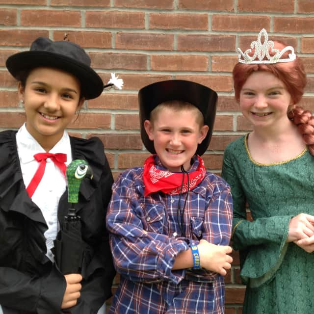 Three members of the Thomas Jefferson Elementary School Showstoppers club, who will perform at Community Day.
