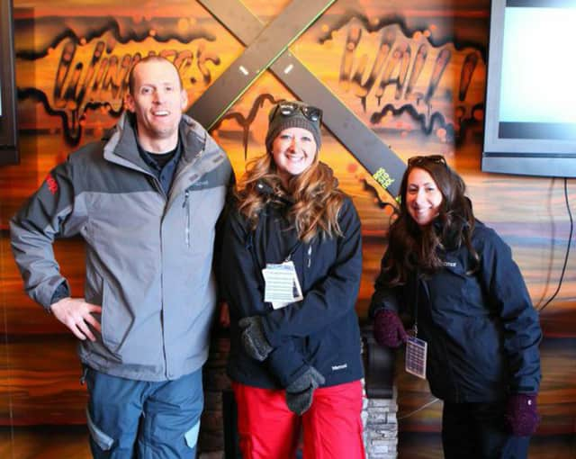 From left, Patrick West, Lindsey Synalovski and Maggie Goldstein of Be the Machine at work at the Jeep Tag-Shop, which the company designed for the X-Games.