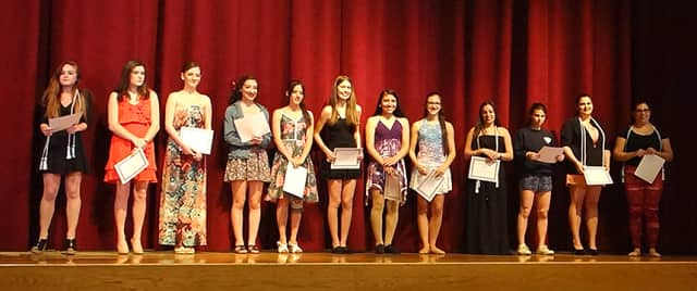 Members of the inaugural Harrison High School National Honors Society for the Dance Arts.