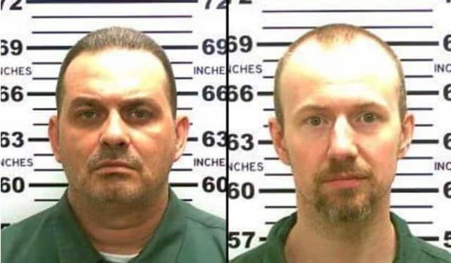 Escaped murderers Richard Matt, 48, and David Sweat, 34.