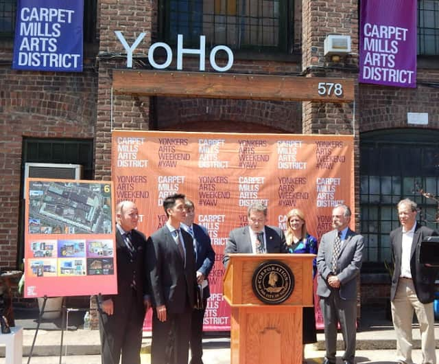 Mayor Mike Spano announced the renaming of the Alexander Smith Carpet Mills.