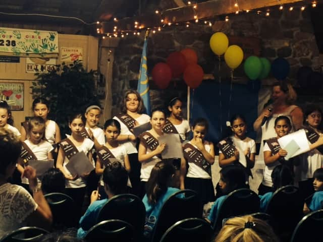 Ossining Girl Scout troop 2238 recently took part in a bridging ceremony.