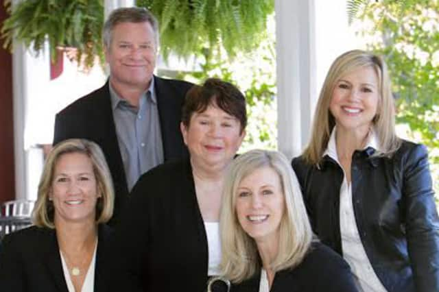 The Westport-based KMS Partners team for Coldwell Banker (left to right) is Mary Ellen Gallagher, David Weber, Sheila Keenan, Susan Seath and Karen Scott. Kim Harizman is not pictured.