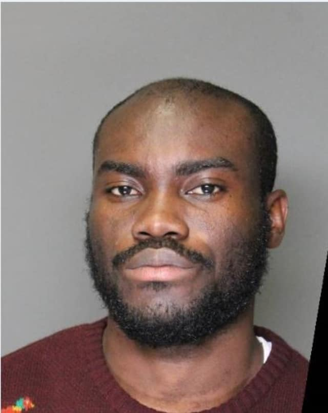 Enoch Sarkodie, 29, of Marietta, Ga., was to be arraigned in Harrison Town Court on Tuesday on  a felony grand larceny charge.