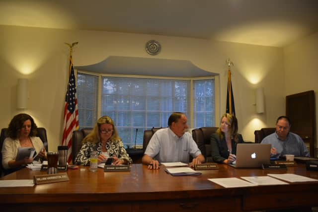 The Pound Ridge Town Board at its June 11 meeting.