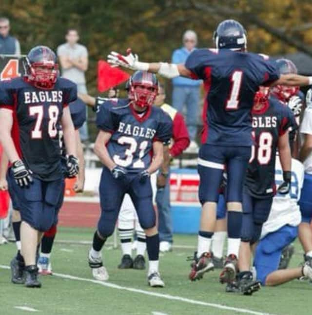 This is the first time three teammates have made all-state in football in the same year at Eastchester High School.