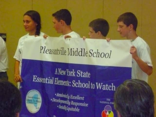 Pleasantville Middle School, members of the 5/6 and 7/8 Math Olympiad teams recently were recognized for their achievements.
