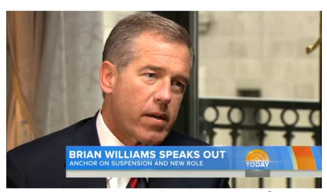"Brian Williams gave his first interview to his colleague, Matt Lauer of ""Today."""