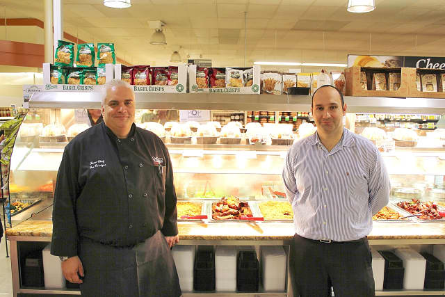 Joe Roscigno, head chef and bakery supervisor,  with Al Menzer, cheese and appetizer director.