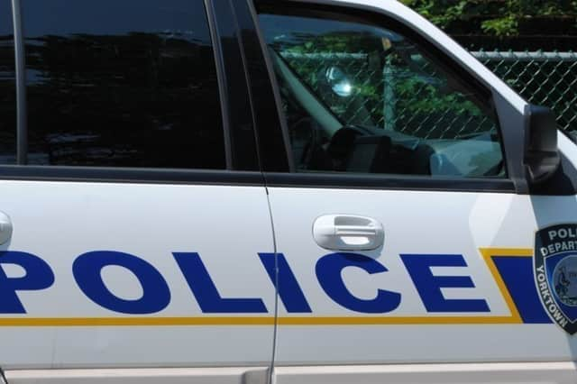 Yorktown police charged a woman Friday with DWI and leaving the scene of an accident at the Triangle Shopping Center.