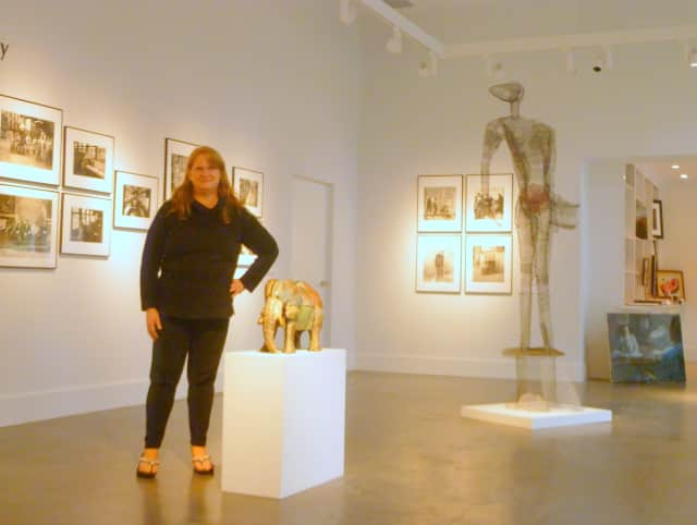 Director Sue Grissom in the recently renovated Lionheart Gallery in Pound Ridge