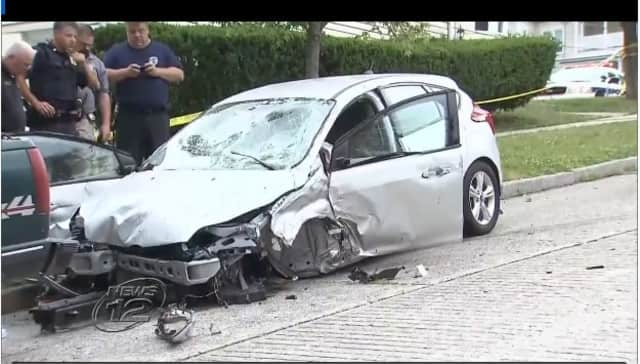A two car accident in Ossining injured two people.