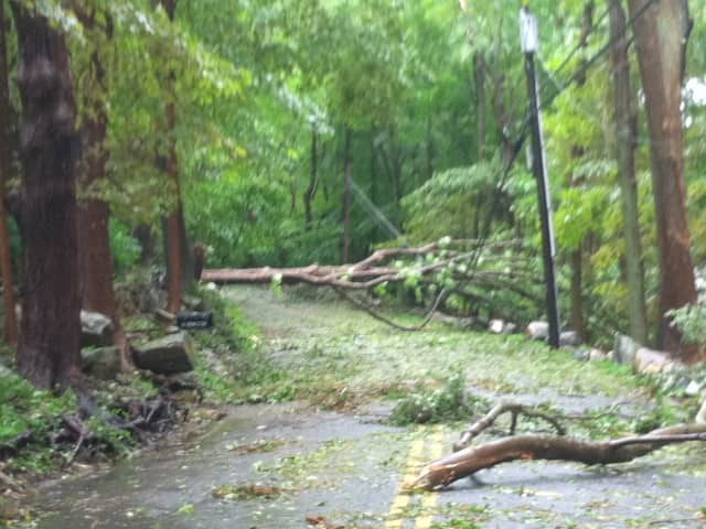 Damage done last year on Eastwoods Road by Hurricane Irene