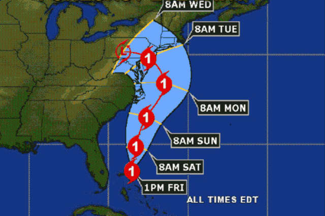 Hurricane Sandy is expected to bring wind and rain to New Canaan and elsewhere in Connecticut on Sunday. The town's emergency operations center will open Saturday night.
